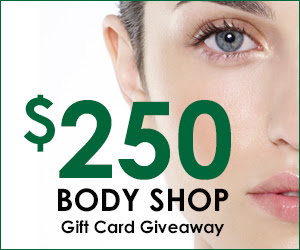 Enter The Body Shop $250 Gift Card Giveaway. Ends 7/14/15.