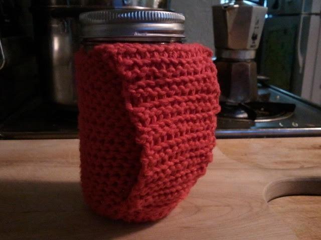 Crochet mason jar QZs