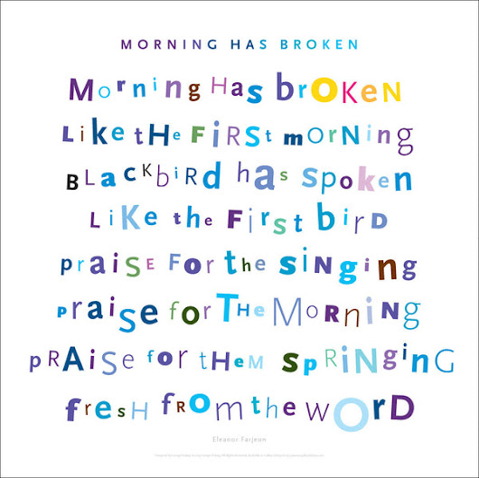Morning Has Broken 1st Verse Digital Wall Art #668 – Gallery Delany
