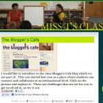 Screen shot of class blog