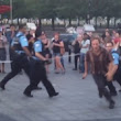 Juggling busker charged after fighting police