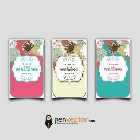 Souvenir Wedding Card Design Vector Free Vector