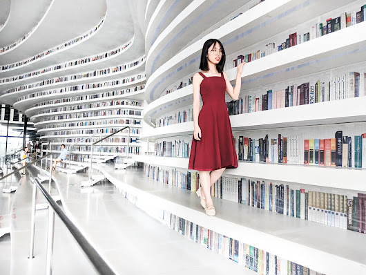 Checking out Books in the Tianjin Library | Stuck in Customs