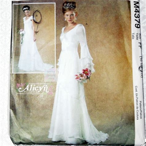 Bridal Gown Sewing Pattern. Plus Size. Cascade Sleeves and