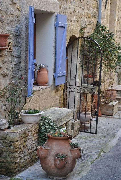 Coldclimategardenings lauris une rue du village - Deco jardin nice rue barla versailles ...