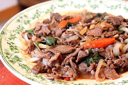 boeuf au basilic Thai