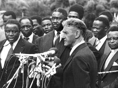 Premier Ian Smith et l'establishment noir de Rhodésie