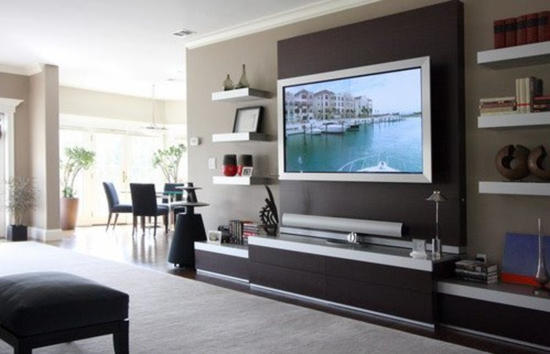 19 Wall Mounted Tv Designs - Decorating Ideas > Furniture ...