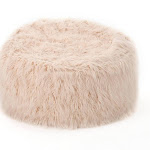 Lachlan Furry Bean Bag Pastel Pink - Christopher Knight Home