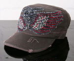 Dream Control Apparel - Wings Army Hat in Silver Brown