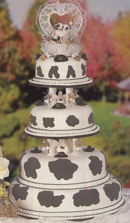 Cow Wedding Cake   4 tier animal wedding cake