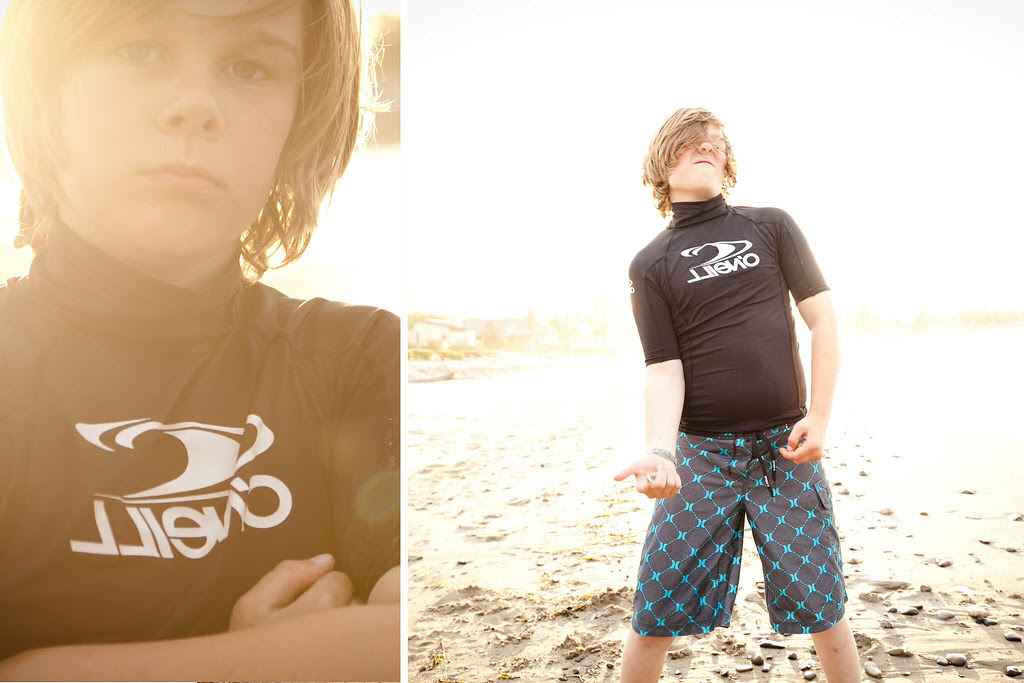 Dylan at Beach diptych