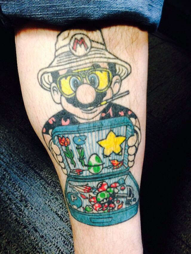 Love My Friends Mario Tattoo Gaming