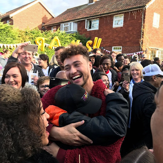 X Factor's Rak-Su are swamped by excited fans during their homecoming to Watford