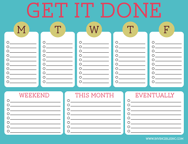 Daily Cute To Do List Template Printable