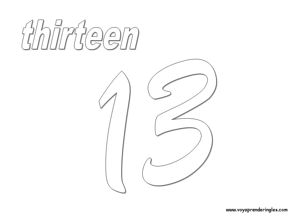 Numeros 14 Colouring Pages Page 2 Az Dibujos Para Colorear