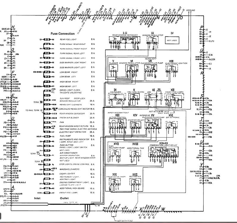1987 Porsche 944 Fuse Box Diagram