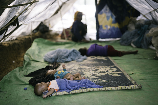 Newborn children in the Rohingya refugee camps. Credit: Umer Aiman Khan/IPS