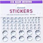 Kid Made Modern 60ct Diamond Stickers, Silver