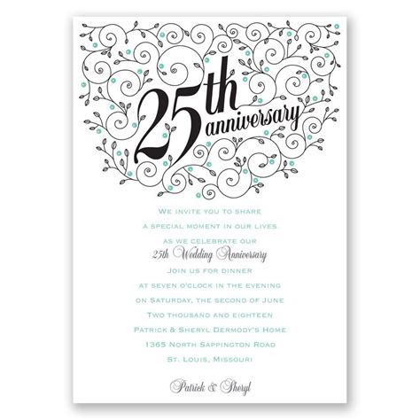 Forever Filigree 25th Anniversary Invitation   Invitations