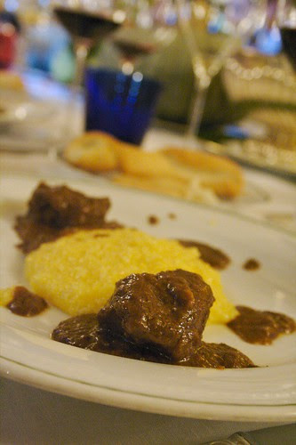 Guangialino stufato e polenta