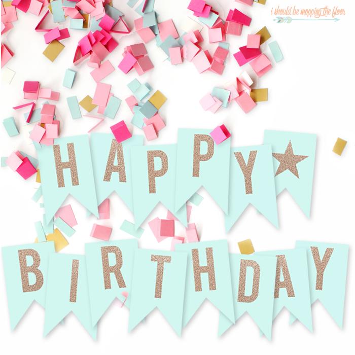 Free Printable Banner: Happy Birthday Pennants - Consumer Crafts ...
