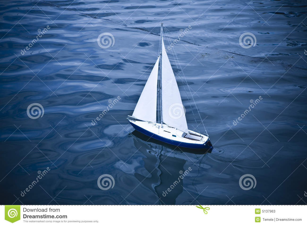 Small Model Of Sailboat Stock Photos - Image: 5137963