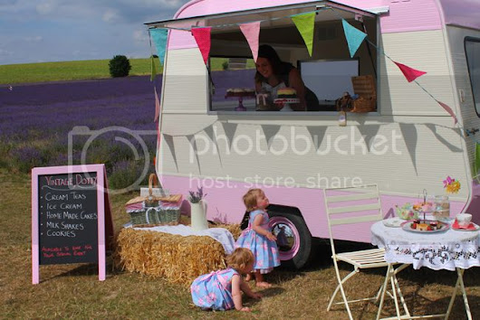 Introducing Vintage Dotty, A Fabulously Fun Catering Caravan!