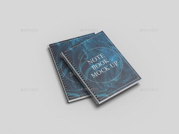 Extraordinary Print Mockups - A4 Spiral Notebook Mockup