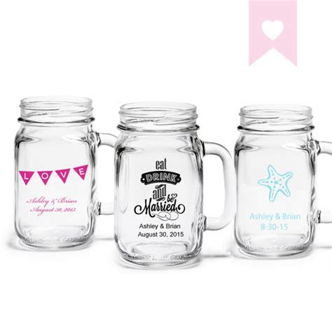 Personalized Mason Jar Drinking Glass   Exclusive