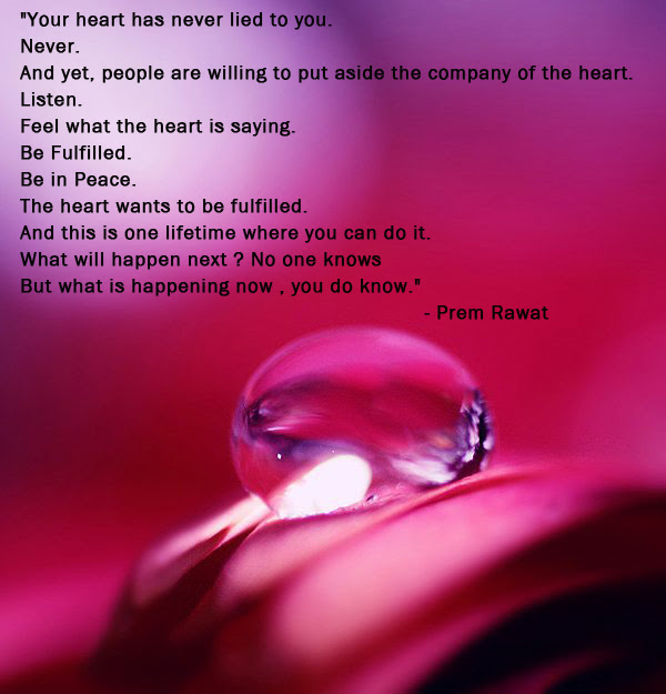 Your Heart Has Never Lied To You Never Prem Rawat