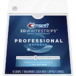 Crest 3D Whitestrips Professional Express Teeth Whitening Kit, 7 Treatments