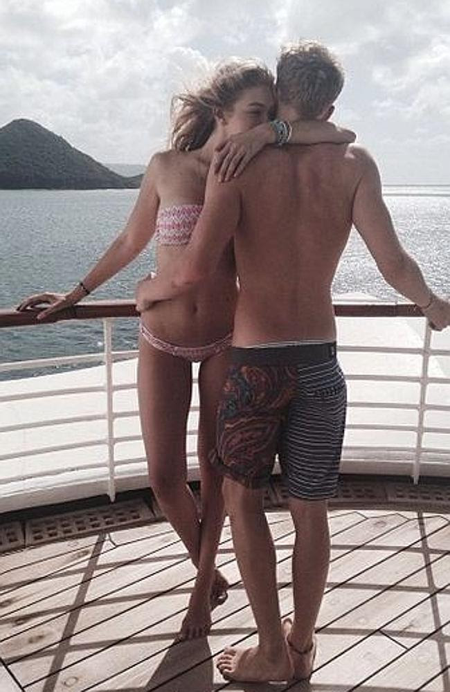 Cody Simpson and new girlfriend Gigi Hadid. Picture: Instagram.