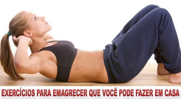 Exercícios para emagrecer e perder barriga em casa
