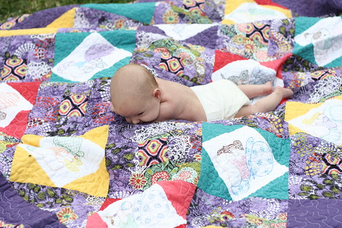 Sweet P and her Quilt