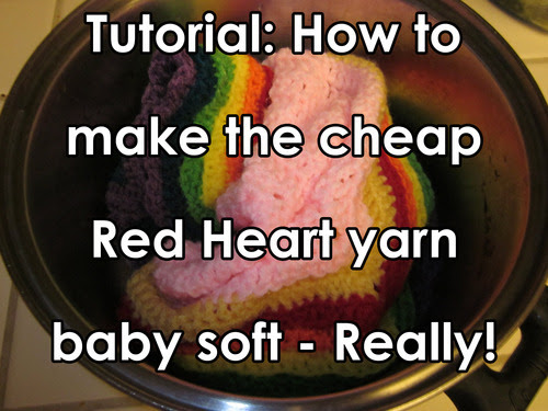 How to Soften Red Heart Super Saver Yarn