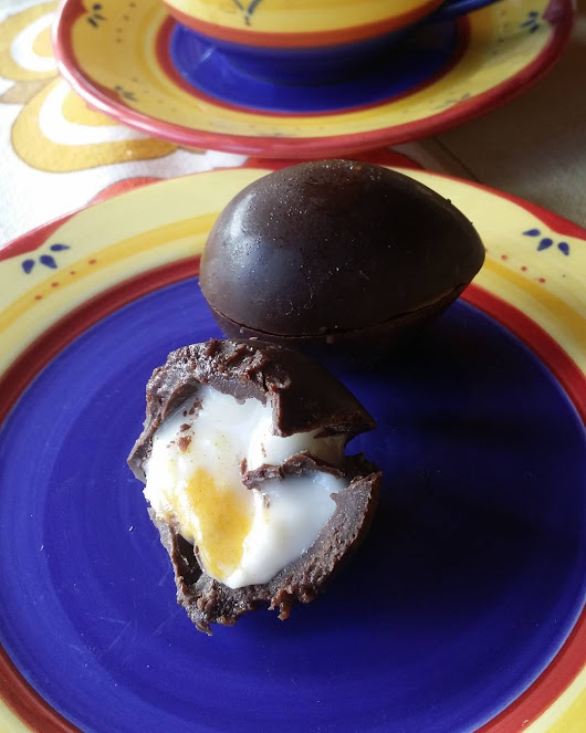 Shayne Parkinson — Homemade Easter eggs from homemade #chocolate....