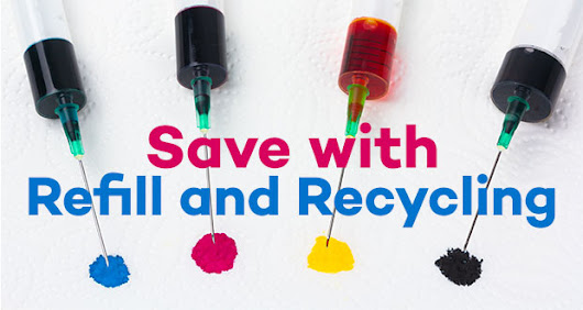 Saving with Refillable and Recycled ink cartridges