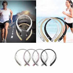 Bluetooth Neck Band Headphone and Phone Attender - Color: Gold