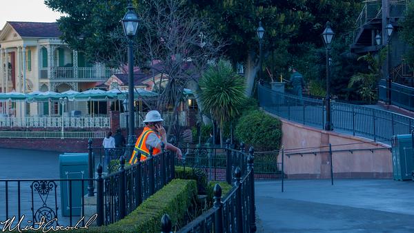 Disneyland Resort, Disneyland, New Orleans Square, Royal Courtyard, Club 33, Outside, Contractor, Smoking