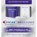 Crest 3D White Brilliance + Whitening Two-step Toothpaste- 2 tubes 4.0oz and 2.3oz