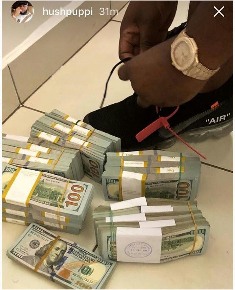 Hushpuppi Shows Off Wards Of Dollar Cash (photo)