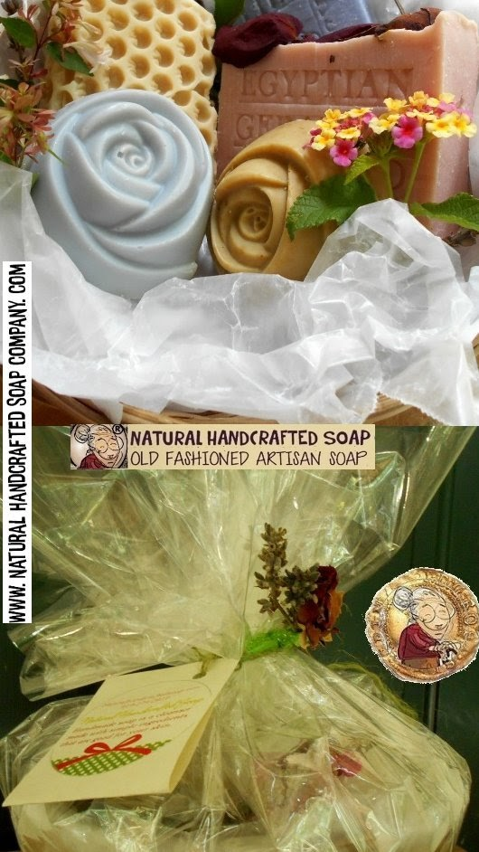 Floral Handmade Soap with Flowers Infused Handmade in North Carolina