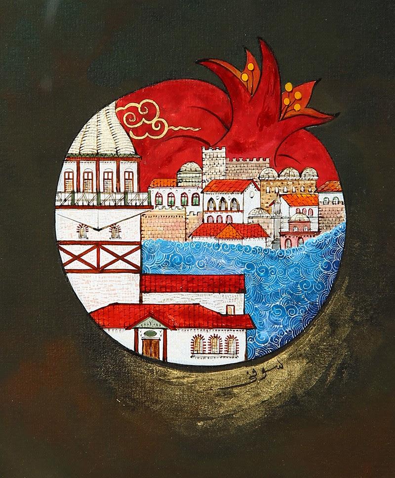 Nar Içerisinde Kız Kulesinden Sarayburnu Minyatür Osmanlı