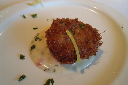 Crabcake at Blackhawk Grille