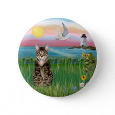 Cat (tabby) - Lighthouse button