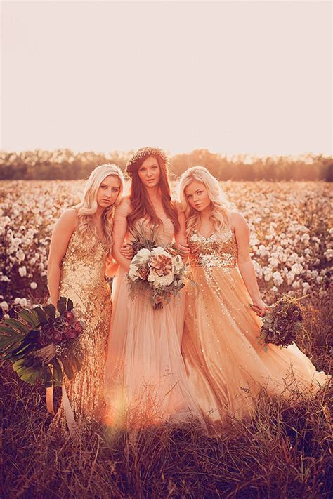Cotton field wedding inspiration   Gold   pink wedding