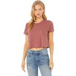 Bella + Canvas Ladies Flowy Cropped T Shirt - B8882 - Mauve