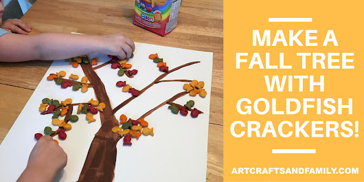 Make A Fall Tree With Goldfish Crackers #GoldFishMoments #Ad - Art Crafts & Family