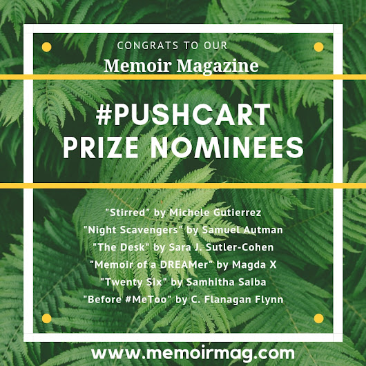 OUR 2019 PUSHCART PRIZE NOMINEES